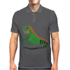 Awesome Artistic Green Iguana Art Abstract Mens Polo