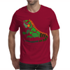 Awesome Artistic Green Iguana Art Abstract Mens T-Shirt