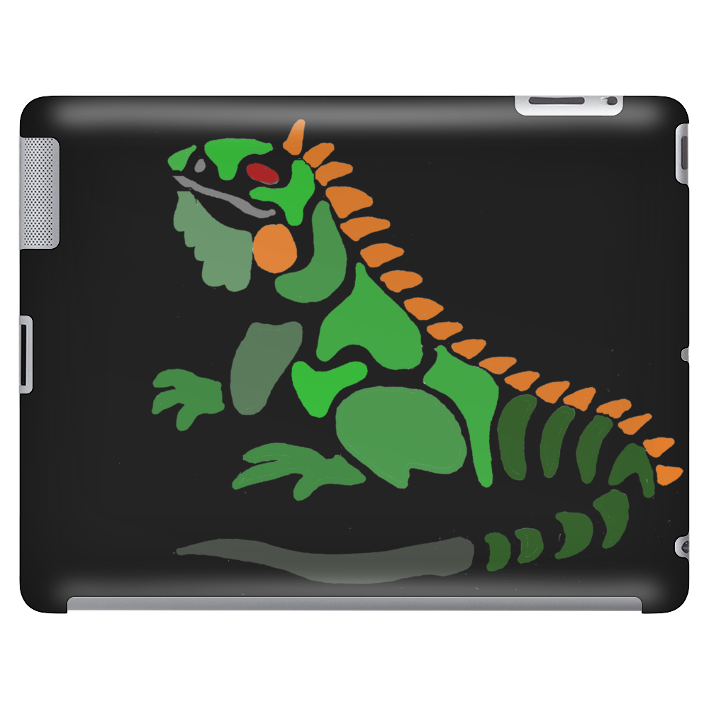 Awesome Artistic Green Iguana Art Abstract Tablet
