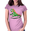 Awesome Artistic Green Iguana Art Abstract Womens Fitted T-Shirt