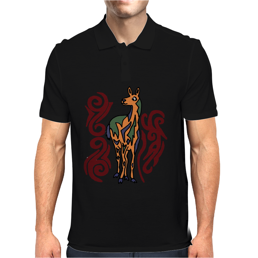 Awesome Artistic Llama Original Art Mens Polo