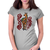 Awesome Artistic Llama Original Art Womens Fitted T-Shirt