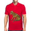 Awesome Artistic Mountain Lion Abstract Art Mens Polo
