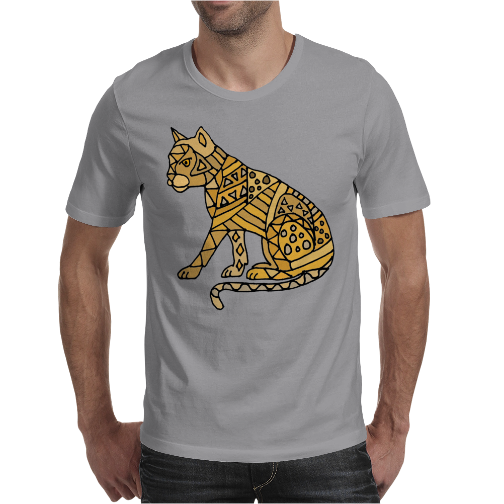 Awesome Artistic Mountain Lion Abstract Art Mens T-Shirt