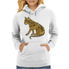 Awesome Artistic Mountain Lion Abstract Art Womens Hoodie