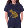 Awesome Artistic Mountain Lion Abstract Art Womens Polo