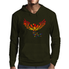 Awesome Artistic Phoenix Rising From the Ashes Original Abstract Art Mens Hoodie