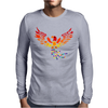 Awesome Artistic Phoenix Rising From the Ashes Original Abstract Art Mens Long Sleeve T-Shirt