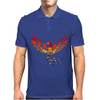 Awesome Artistic Phoenix Rising From the Ashes Original Abstract Art Mens Polo