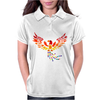Awesome Artistic Phoenix Rising From the Ashes Original Abstract Art Womens Polo