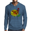 Awesome Artistic Red Butterly on Yellow Daisy Art Mens Hoodie