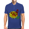 Awesome Artistic Red Butterly on Yellow Daisy Art Mens Polo