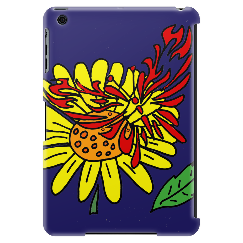 Awesome Artistic Red Butterly on Yellow Daisy Art Tablet