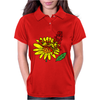 Awesome Artistic Red Butterly on Yellow Daisy Art Womens Polo