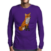 Awesome Artistic Red Fox Abstract Art Original Mens Long Sleeve T-Shirt