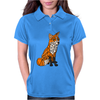 Awesome Artistic Red Fox Abstract Art Original Womens Polo