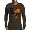 Awesome Artistic Rooster Abstract Art Mens Long Sleeve T-Shirt