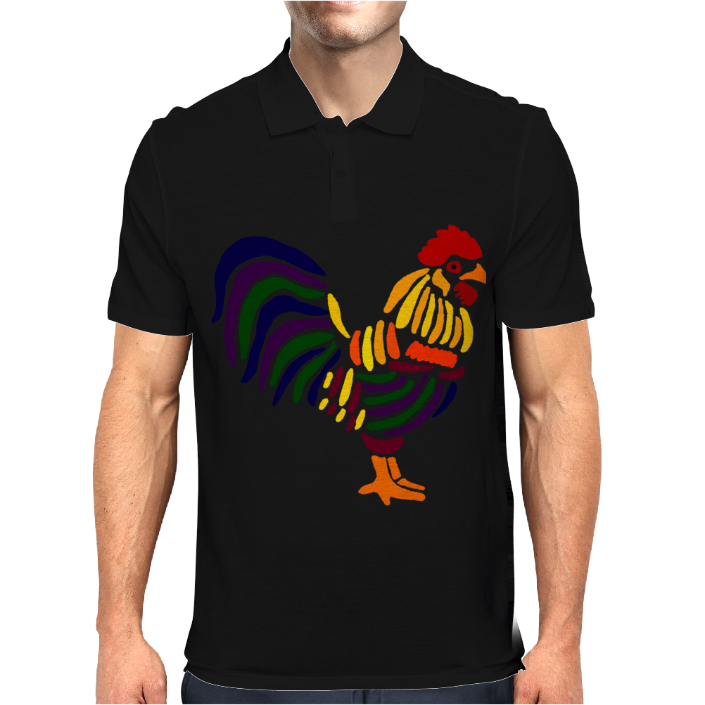 Awesome Artistic Rooster Abstract Art Mens Polo