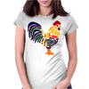 Awesome Artistic Rooster Abstract Art Womens Fitted T-Shirt