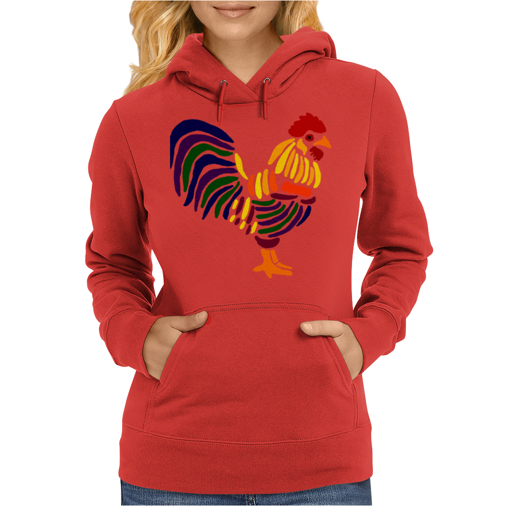 Awesome Artistic Rooster Abstract Art Womens Hoodie