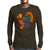 Awesome Artistic Turkey Abstract Art Mens Long Sleeve T-Shirt