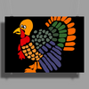 Awesome Artistic Turkey Abstract Art Poster Print (Landscape)