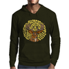 Awesome Artsy Deer Buck and Moon Abstract Art Mens Hoodie