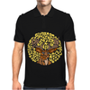Awesome Artsy Deer Buck and Moon Abstract Art Mens Polo