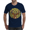 Awesome Artsy Deer Buck and Moon Abstract Art Mens T-Shirt