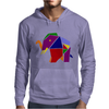 Awesome Artsy Elephant Origami Original Mens Hoodie