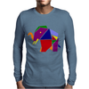 Awesome Artsy Elephant Origami Original Mens Long Sleeve T-Shirt
