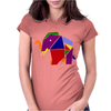 Awesome Artsy Elephant Origami Original Womens Fitted T-Shirt