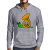 Awesome Artsy Funny Green Snail in French Horn Shell Mens Hoodie