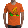 Awesome Artsy Funny Green Snail in French Horn Shell Mens T-Shirt