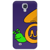 Awesome Artsy Funny Green Snail in French Horn Shell Phone Case