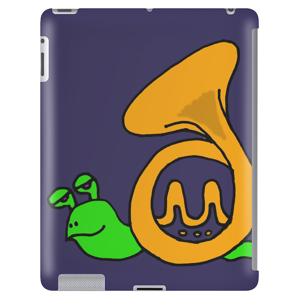 Awesome Artsy Funny Green Snail in French Horn Shell Tablet