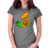 Awesome Artsy Funny Green Snail in French Horn Shell Womens Fitted T-Shirt