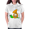 Awesome Artsy Funny Green Snail in French Horn Shell Womens Polo