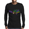 Awesome Artsy Sea Turtle Abstract Art Mens Long Sleeve T-Shirt