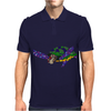 Awesome Artsy Sea Turtle Abstract Art Mens Polo