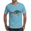Awesome Artsy Sea Turtle Abstract Art Mens T-Shirt