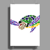 Awesome Artsy Sea Turtle Abstract Art Poster Print (Portrait)