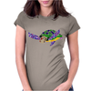 Awesome Artsy Sea Turtle Abstract Art Womens Fitted T-Shirt