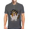 Awesome Australian Shepherd Dog Art Mens Polo