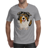 Awesome Australian Shepherd Dog Art Mens T-Shirt