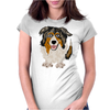 Awesome Australian Shepherd Dog Art Womens Fitted T-Shirt