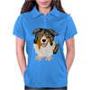 Awesome Australian Shepherd Dog Art Womens Polo