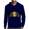 Awesome Beer Lover's Mug and Sun Rays Art Mens Hoodie