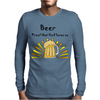 Awesome Beer Lover's Mug and Sun Rays Art Mens Long Sleeve T-Shirt