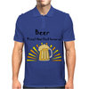 Awesome Beer Lover's Mug and Sun Rays Art Mens Polo